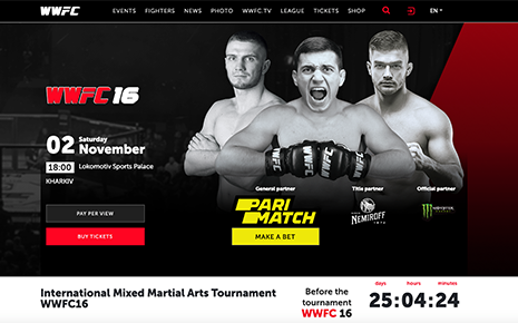 Сайт World Warriors Fighting Championship